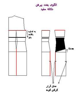 الگو لباس مجلسی